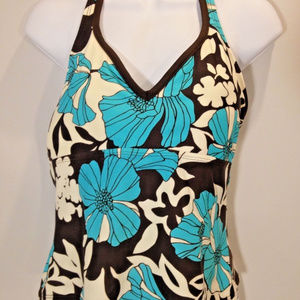 St Johns Bay Swim Sz 12 Floral Swimwear Tankini